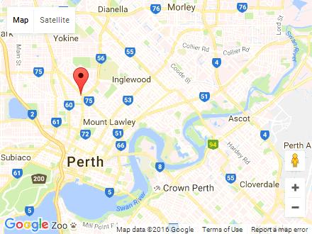 Perth Tans Mini Map
